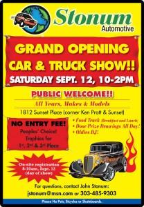 Stonum Car Show - Grand Opening